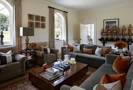 gray and brown living room ideas with grey sofa
