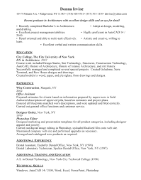 Gallery Of Entry Level Free Resumes Architectural Resume Examples