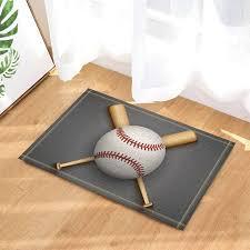 baseball themed bathmat