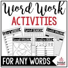 Activities Word Word Work Activities By Pocketful Of Primary Teachers Pay Teachers