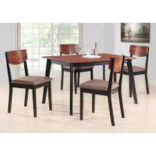 Shop Casey Walnut Black Wood Rectangle Kitchen Dinette Dining Table