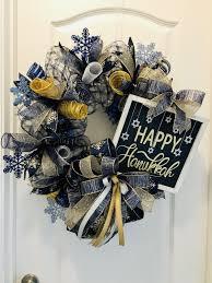 Christmas Lights Star Of David Hanukkah Wreath Chanukah Wreath Hanukkah Decoration