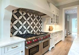 white cement kitchen with black and circle tiles cabinets concrete countertop mix faux p