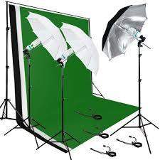 photo studio lighting photography studio 3 backdrops stand muslin light kit