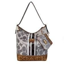 Coach In Signature Medium Grey Shoulder Bags AYJ  Coach0A1924  - Coach In Signature  Medium