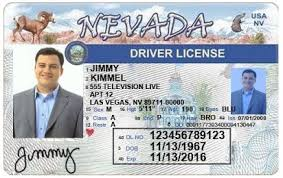 Template Nevada License Drivers Free
