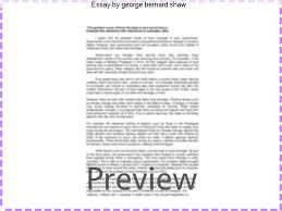essay by george bernard shaw custom paper service essay by george bernard shaw paper about management george bernard shaw essays online ocr coursework