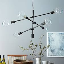 home and furniture astonishing west elm ceiling light in staggered glass chandelier 8 west elm
