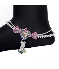 Fancy Silver Payal Designs With Price Feel Special With Aman Silver Anklets For Casual Wear And
