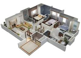 modern home design layout. Architecture 3d Home Design 3bhk With Modern Interior And Inside 3 Bhk Layout S