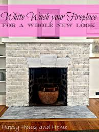 How To White Wash Happy House And Home How To Whitewash Your Fireplace
