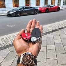 Luxury Red And Black Lamborghini Ferrari Key Fob Remote Lux Cars Key Key Fob