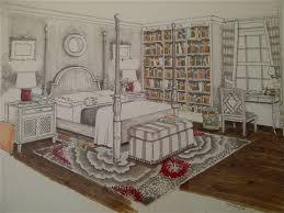 Marker Rendering Interior Design Bedroom Interior Design Marker Rendering Interior Design