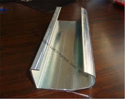 china oem galvanized steel 2 straight garage door vertical track replacement supplier