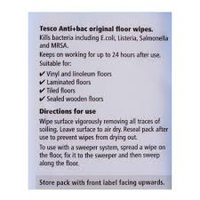 tesco anti bec original floor wipes 15 pack