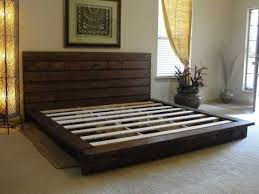 rustic platform bed. King Rustic Platform Bed Diy Frame Ideas Pinterest Of