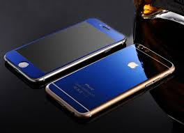 mirror protector iphone blue