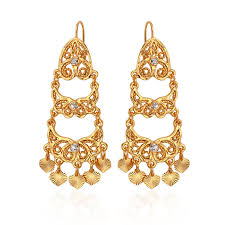 vintage long chandelier earrings bollywood style gold
