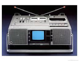 sony tv radio. sony fx-414be portable tv radio cassette recorder 1