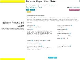Student Report Card Template Gallery Of Report Card Template Free New Daily Behavior