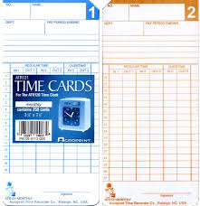 Acroprint Atr121 Monthly Semi Monthly Time Cards For Atr120 Box Of 1000