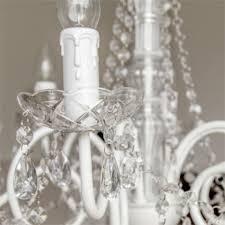 Kronleuchter White Chalet Weiss Glänzend 6 Armig Aus Metall