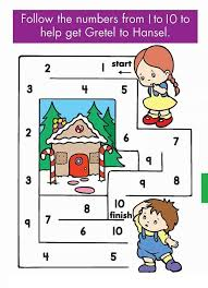 kindergarten counting & numbers mazes worksheets (1) Â« funnycrafts