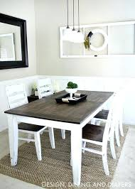 diy dining room chairs farmhouse table makeover diy dining room table with leaf