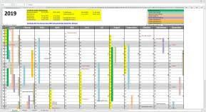 Excel Kalender Smarttools Jahreskalender 2019 Für Excel 11 0 7 Download