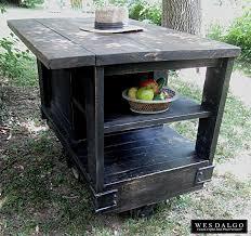 island rustic top black  distressed black modern rustic kitchen island cart with