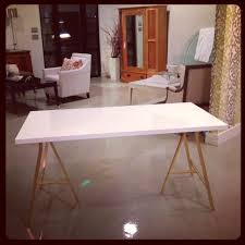 diy ikea vika amon desk legs personalize with gold spray paint