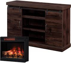 full size of chestnut hill 56 in tv stand electric fireplace with sliding barn door
