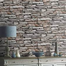 Light Grey 3d Brick Effect Wallpaper