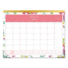 Day Designer Academic 2019 Day Designer Academic Year Desk Pad 22 X 17 White Floral 2019 2020