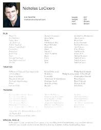 Resume Examples For Actors Latest Resume Sample Resume Format Latest Latest Resume Examples