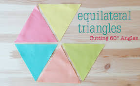 Cutting Equilateral Triangles ~ A Tutorial ~ Fresh Lemons Modern ... & Cutting 60 Degree Triangles ~ Tutorial by Faith of Fresh Lemons Quilts Adamdwight.com