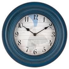 blue mermaid tail wall clock hobby