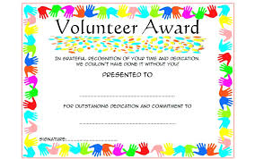Volunteer Certificate Tstanding Volunteer Certificate Template Years Of Service Templates