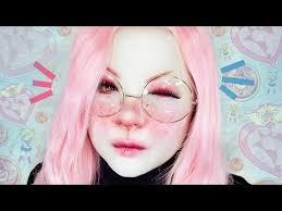 cute easy bunny makeup tutorial 白塗り メイク うさぎ shironuri makeup tutorial 12