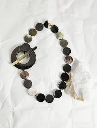 <b>Necklace</b> in horn, black - Weekend Max Mara