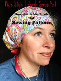 Scrub Cap Pattern Stunning Scrub Hat Sewing Pattern Tutorial NEW DIY Pixie Style Tieback