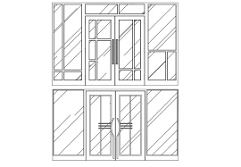 multiple sliding glass door elevation