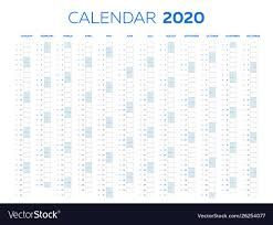 Monthly 2020 Calendar Templates The 2020 Calendar Template With Classical Monthly