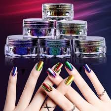 Chameleon Práškový Zrcadlový Nehtový Prášek Chrome Pigment Nehty Umění Prach Manikúra Třpytky černá Základní Barva Potřebné Polvo De U As P De Unha