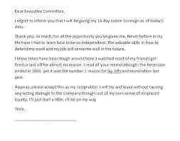 2 Week Resignation Letter Impressive Two Weeks Notice Letters Amp Resignation Letter Templates Regarding