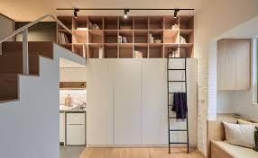 Tiny Studio Apartment In Taipei City With Sleeping Loft