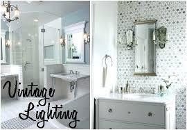vintage bathroom lighting. Stunning Vintage Bathroom Light Fixture Fixtures And Porcelain Sconce Vanity Lighting U