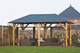 garden canopy. Superior Wooden Garden Gazebo | 5.9m X 3.4m Canopy