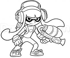 Coloring Pages Splatoong Pages Free How To Draw An Inkling From