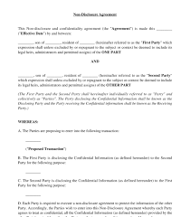 Nda Template For Startup Non Disclosure Agreement Template Word Pdf